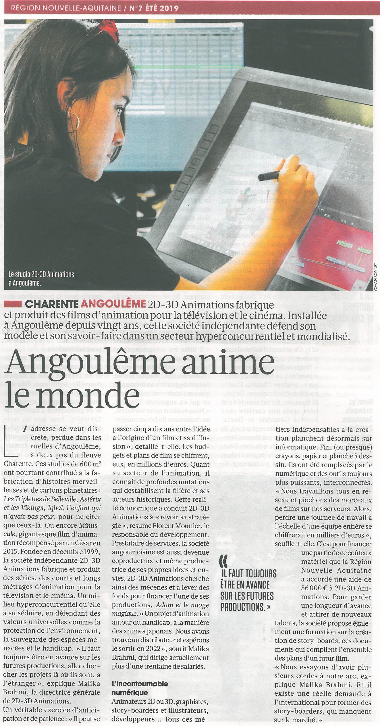 Journal de la Région Nouvelle-Aquitaine / Été 2019